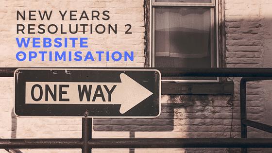 Online Marketing New Year Resolution - page optimisation - Part 2