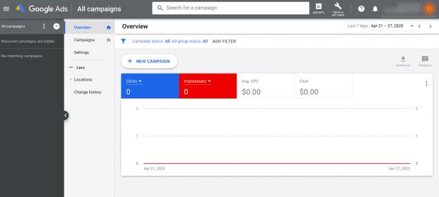Google ads account start