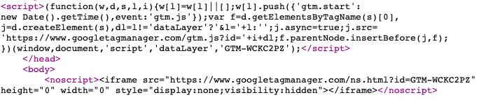 GTM website install